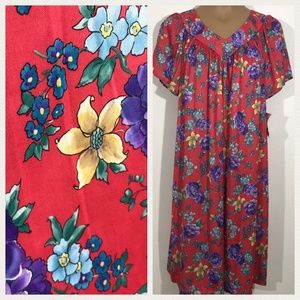Vntg 1970s NOS Carriage Court Caftan Muumuu Dress